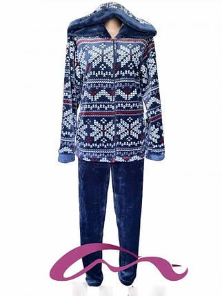 Женский костюм для дома с капюшоном на молнии с 42 по 60 размер, фото 2