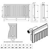 Радиатор стальной Daylux 11-К 500х500 боковое подключение, фото 2