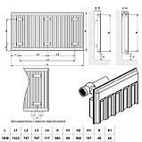Радиатор стальной Daylux 11-К 600х1800 нижнее подключение, фото 2