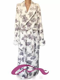 Красивый длинный женский из махры на запах с 42 по 60 размер, фото 2