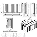 Радиатор стальной Daylux 22-К 600х900 нижнее подключение, фото 2
