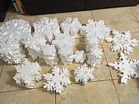 Снежинки из пенопласта 10 см