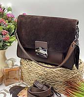 Женский клатч 088 коричневый женские клатчи, женские сумки купить оптом в Украине, фото 1
