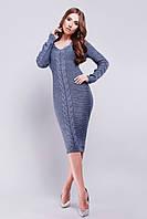Женское вязаное платье, фото 1