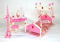Мебель для Барби 689-3, спальня со столиком