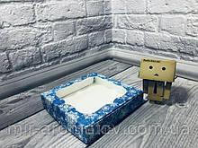 Коробка с окошком  15х15х3 см цветная  10шт