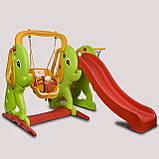 Игровая площадка горка и качеля Pilsan 06-161  с баскетбольным кольцом, фото 3