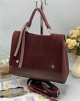 Женская сумка 075 бордовый купить женские сумки оптом от производителя в Украине, фото 1