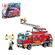 Конструктор Qman 2807 Пожарная машина, 366 деталей, мини фигурки, в коробке