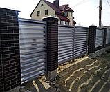 Ворота відкатні Жалюзі Ексклюзив, фото 4