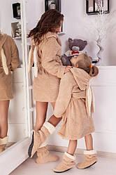 Комплект халати з чобітками для мами + доньки