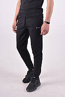 Размеры: 46-56. Мужские спортивные штаны Samo, Узбекистан, трикотаж двухнитка - черные