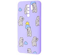 Чехол-накладка TPU WAVE Fancy Case для Xiaomi Redmi 9 Light Purple (Cute Bears)