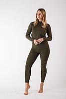 Комплект женского термобелья зеленый S ThermoX Winter Soldier