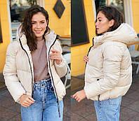 Женская осенняя куртка с капюшоном