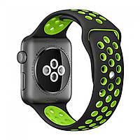 Ремінець Nike Design Apple watch 42, 44мм Чорно-зелений