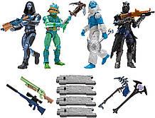 Набір Фортнайт 4 фігурки, Трог, Мости Мерман, Омен, Рэведж. Fortnite Squad Mode Series 2, Оригінал з США