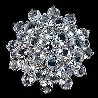 Крупное серебряное Кольцо с Аквамаринами, фото 1