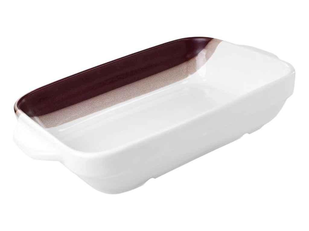 Форма керам. для запікання С 750мл крапля біло-теракотовий ТМПОЛИГЕНЬКО