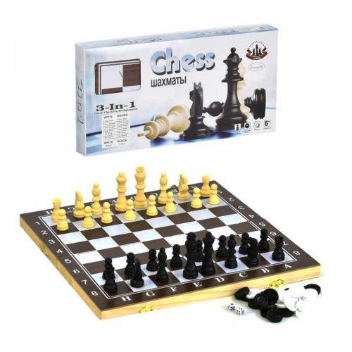 """Набор 3 в 1 """"Шахматы, Шашки, Нарды"""", большой F22017"""