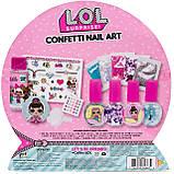 Набір Лаки для нігтів для дівчинки L. O. L. Surprise Confetti Nail Art by Horizon Group USA, фото 3