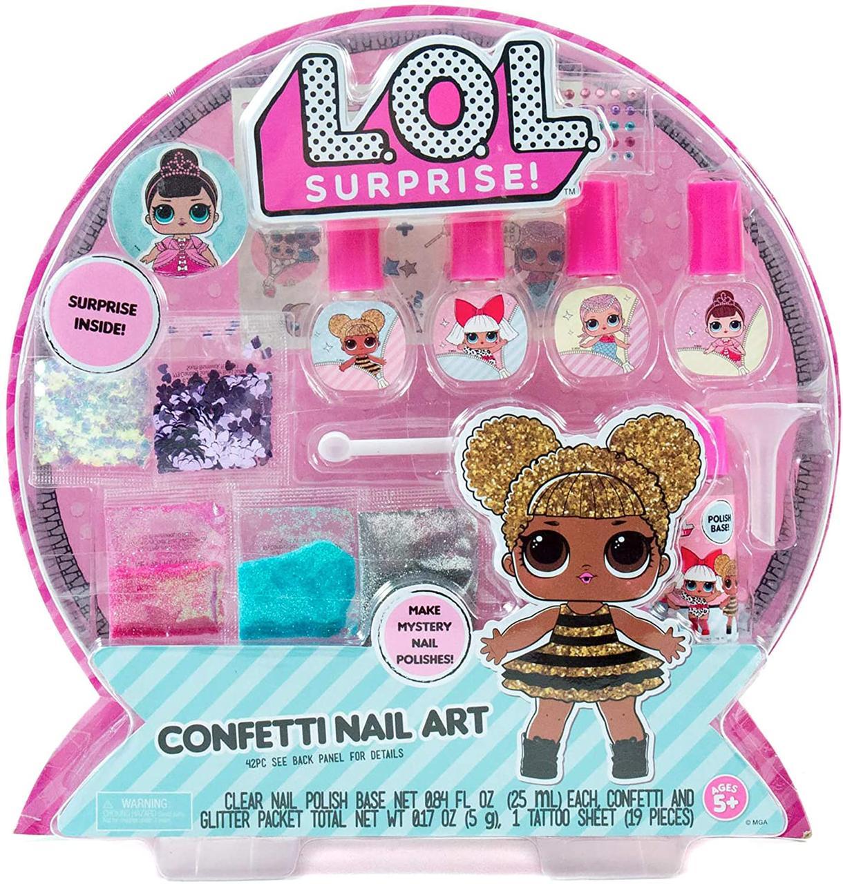 Набір Лаки для нігтів для дівчинки L. O. L. Surprise Confetti Nail Art by Horizon Group USA
