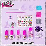 Набір Лаки для нігтів для дівчинки L. O. L. Surprise Confetti Nail Art by Horizon Group USA, фото 7