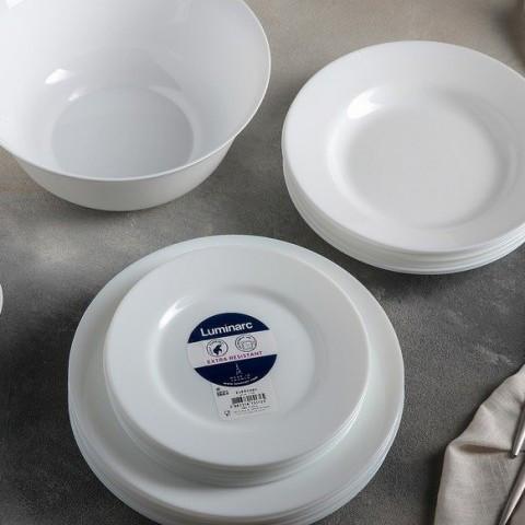 Тарелка десертная из белой стеклокерамики Luminarc Everyday 190 мм (G0565)
