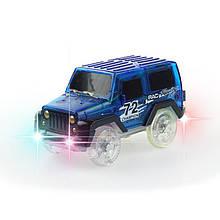 Машинка для игрушечной дороги, синий внедорожник