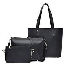 Набор женских сумок 3 шт., Черный