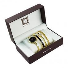 Часы в подарочной упаковке ANNE KLEIN, золото черный циферблат