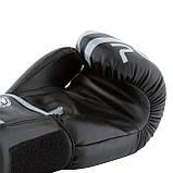 Боксерські рукавиці PowerPlay 3010 Чорно-Сірі 16 унцій SKL24-144004, фото 6