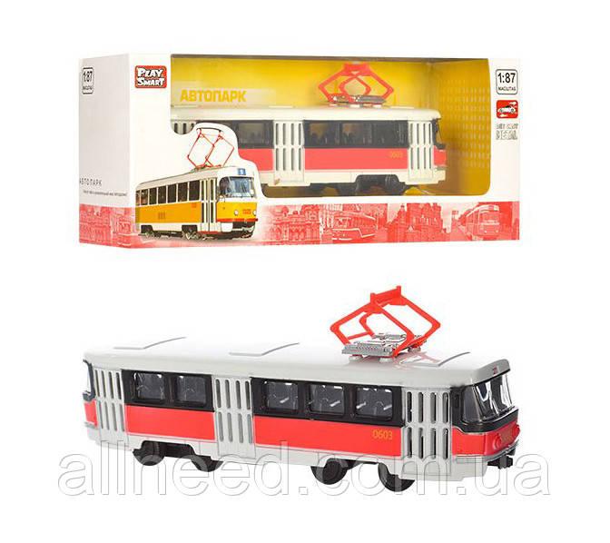 RUS Модель трамвай PLAY SMART 6411 A/B/C/D (6411D)
