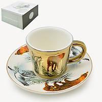 "Чашка с блюдцем анаморф ""Гепард"" 90мл R88429"