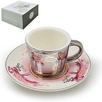 "Чашка с блюдцем анаморф ""Фламинго"" 90мл R88426"