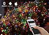 Гирлянда Умная/Smart Led 200l, длина 19м, цвет свечения Мульти + Теплый, 20 режимов, фото 4