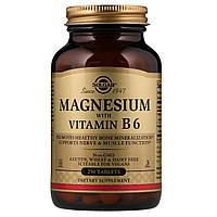 Магний и Витамин В6, Solgar, 250 таблеток