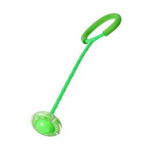 Нейроскакалка на одну ногу со светящимся роликом - Зеленая