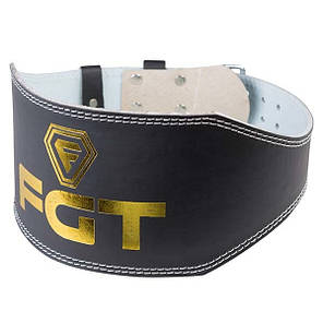 Пояс атлетический широкий черный FGT, PU, размер XL, фото 2