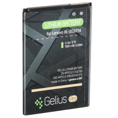 Аккумуляторная батарея для телефона Gelius Pro Lenovo BL-203 (A369) (1500 mAh) (59138)
