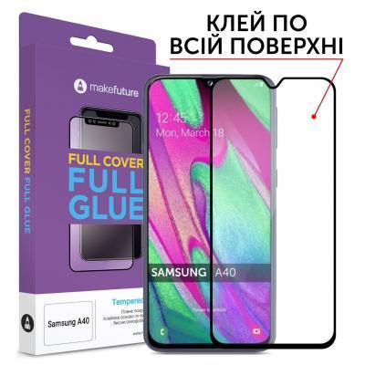 Стекло защитное MakeFuture Samsung A40 (A405) Full Cover Full Glue (MGF-SA405)