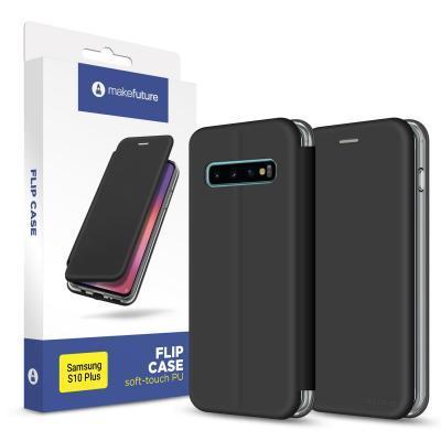 Чехол для моб. телефона MakeFuture Flip Case (Soft-Touch PU) Samsung S10 Plus Black (MCP-SS10PBK)