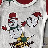 Боди новогодний для мальчика и девочки Новогодний 7. Размеры 62 см, 68 см, 74 см, 80 см,86 см, фото 2
