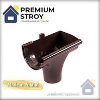 Зливоприймач правий коричневий Profil 130/100