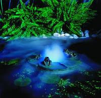 Украшение для пруда с туманообразователем и светодиодной подсветкой.