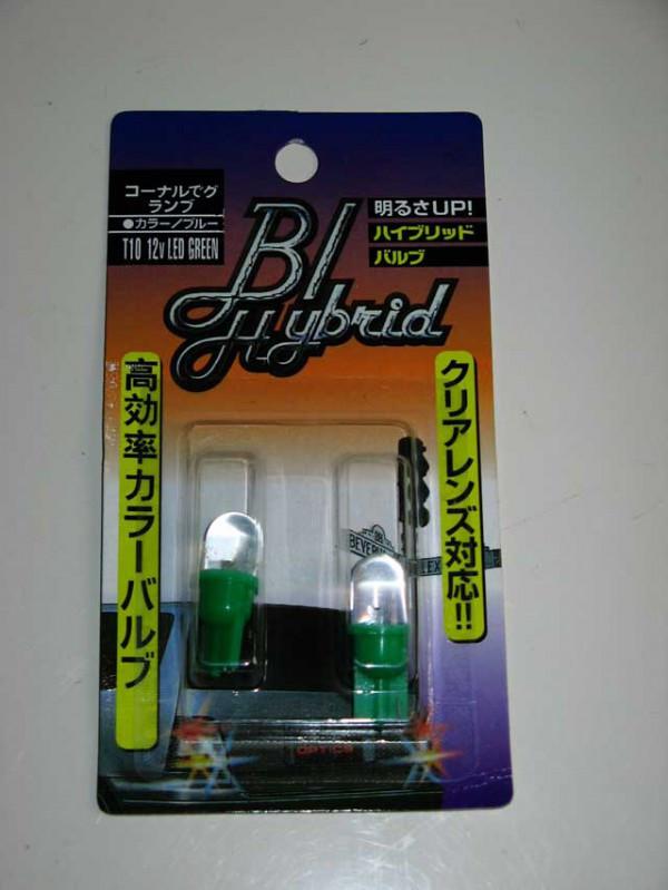 Лампочка без цок.Т10  1LED зеленая (пара)