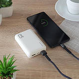 Батарея универсальная MakeFuture 10000 mAh Li-Pol 2*USB White (MPB-101WH), фото 5