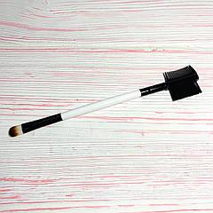 Двостороння щіточка для брів і нанесення тіней