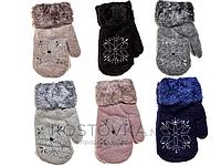 Перчатки детские Корона 333 (варианты расцветок, L)