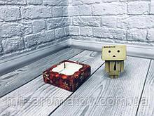 Коробка с окошком  10*10*3 см цветная 10шт